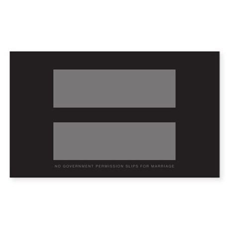 No Government Marriage Sticker