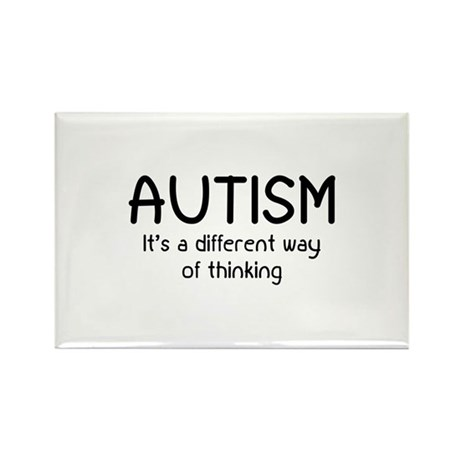 Autism It's a different way of thinking Rectangle