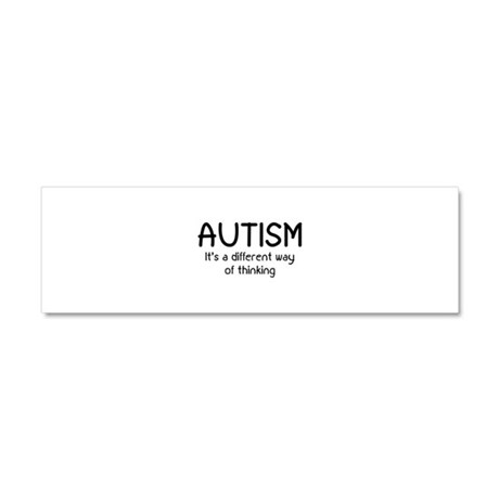 Autism It's a different way of thinking Car Magnet