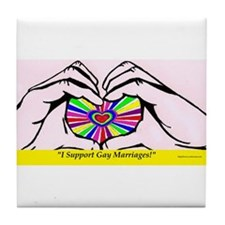 I support Gay Marriages Tile Coaster