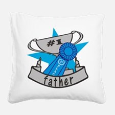 World's Best Father Square Canvas Pillow