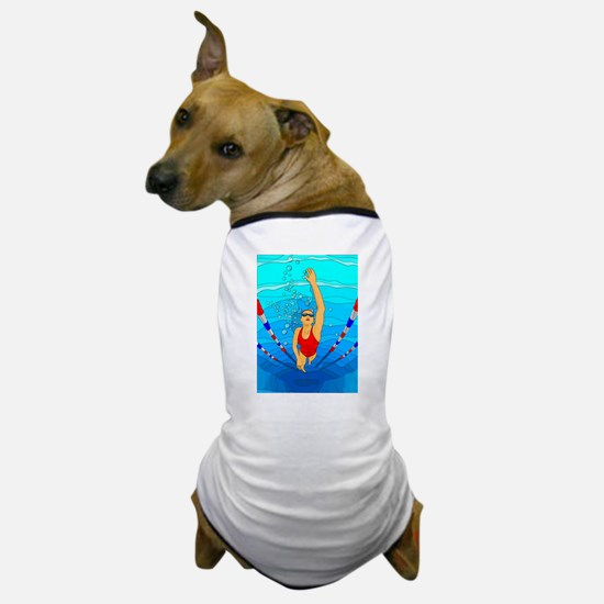 Woman swimming Dog T-Shirt