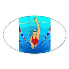 Woman swimming Decal