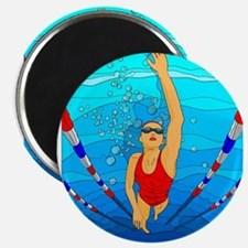 Woman swimming Magnet