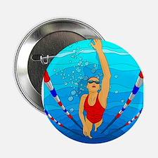 "Woman swimming 2.25"" Button"