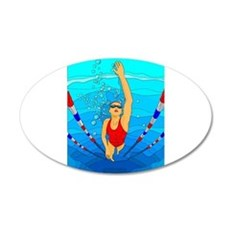 Woman swimming Wall Decal