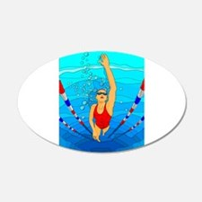 Woman swimming Wall Decal