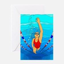 Woman swimming Greeting Card