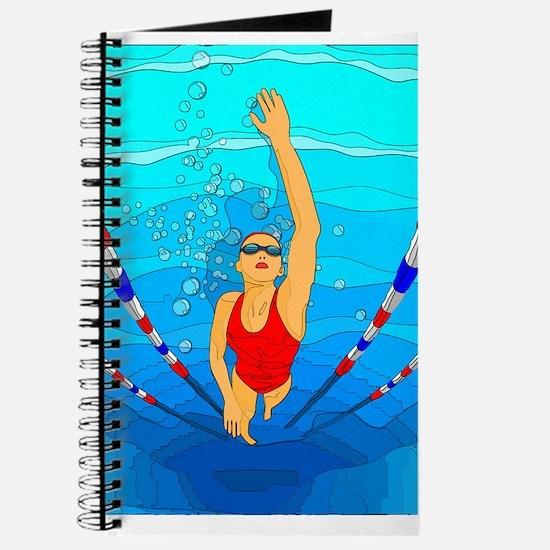 Woman swimming Journal