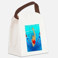 Woman swimming Canvas Lunch Bag