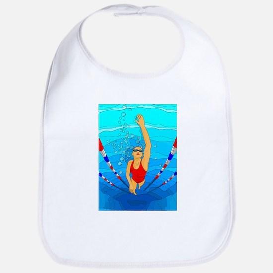 Woman swimming Bib