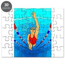 Woman swimming Puzzle