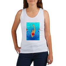Woman swimming Tank Top
