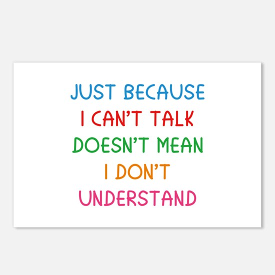 Just because I can't talk ... Postcards (Package o
