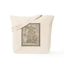Vintage Map of Michgan Tote Bag