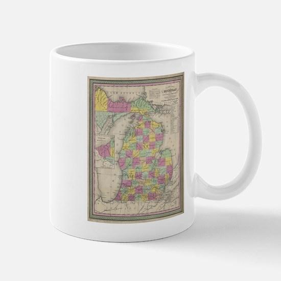 Vintage Map of Michgan Mug