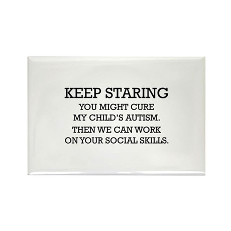 Keep Staring Rectangle Magnet (100 pack)