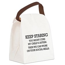 Keep Staring Canvas Lunch Bag