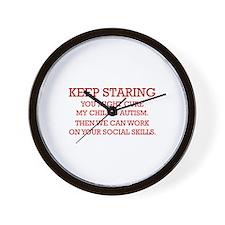 Keep Staring Wall Clock