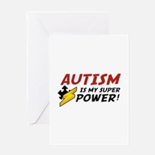 Autism Is My Super Power! Greeting Card