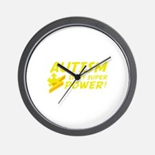 Autism Is My Super Power! Wall Clock