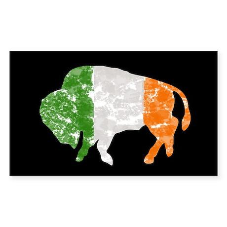 Irish Buffalo Rectangle Sticker