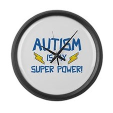 Autism Is My Super Power! Large Wall Clock