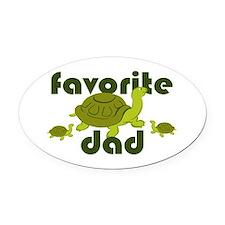 Favorite Dad Oval Car Magnet