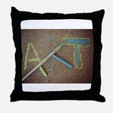 Art Mixed Media Collage on Cement Throw Pillow