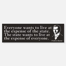 Bastiat State Quote Bumper Bumper Bumper Sticker