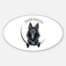 Belgian Sheepdog IAAM Sticker (Oval)