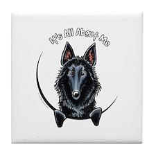Belgian Sheepdog IAAM Tile Coaster
