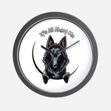 Belgian Sheepdog IAAM Wall Clock
