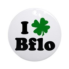 I Shamrock Buffalo Ornament (Round)