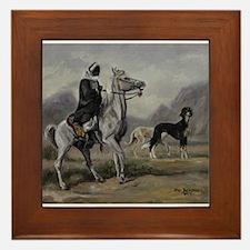 Arabian Horse and Saluki Dog Framed Tile