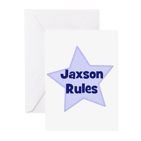 Jaxson Rules Greeting Cards (Pk of 10)