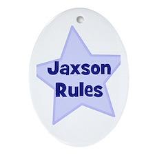 Jaxson Rules Oval Ornament