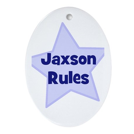 Jaxson Rules Oval Ornament
