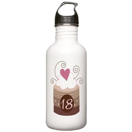 18th Birthday Cupcake Stainless Water Bottle 1.0L