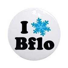 i snowflake buffalo Ornament (Round)