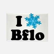 i snowflake buffalo Rectangle Magnet