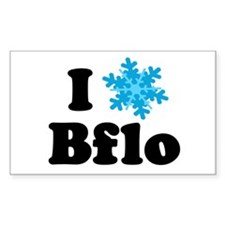 i snowflake buffalo Rectangle Decal
