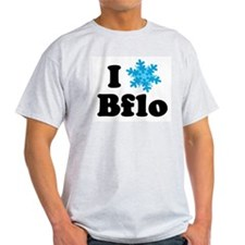i snowflake buffalo Ash Grey T-Shirt