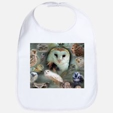 Happy Owls Bib