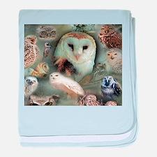 Happy Owls baby blanket