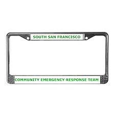 South San Francisco CERT License Plate Frame