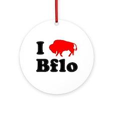 I love Bflo Ornament (Round)