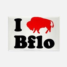 I love Bflo Rectangle Magnet
