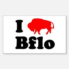 I love Bflo Rectangle Decal