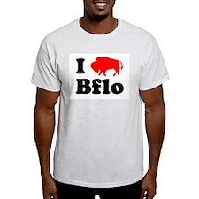 I love Bflo Ash Grey T-Shirt